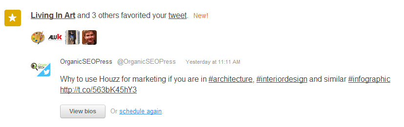 Screenshot of Interactions in the Social Inbox Tool by HubSpot