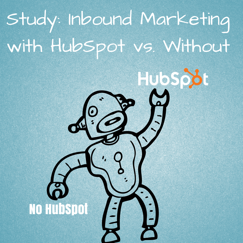 Study Inbound Marketing with or without Hubspot