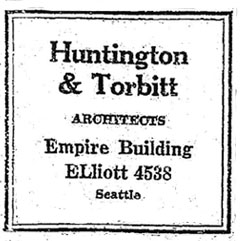 Ad for architect business 1927