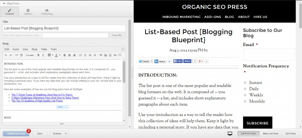 Blog  Hubspot List Based Post Template Screenshot