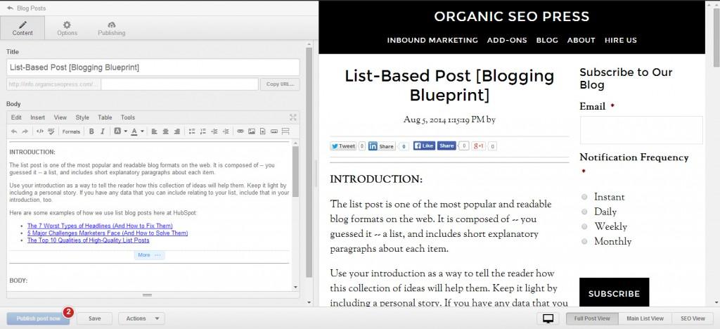 Blog  Hubspot List Based Post Template Screenshot