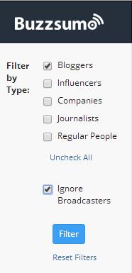 BuzzSumo Influencer Search  Detail