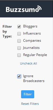 BuzzSumo Influencer Search  Detail