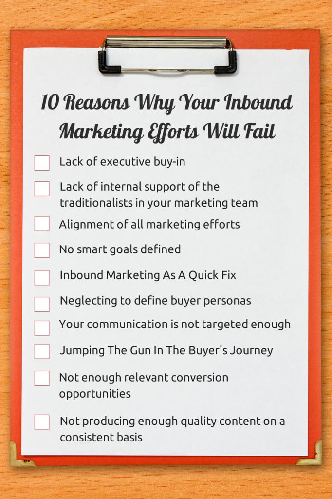 Checklist: 10 Reasons Why Your Inbound Marketing