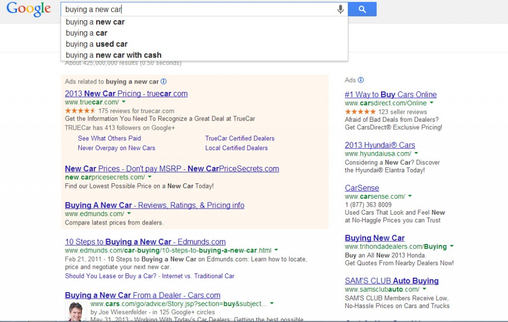 What is SEO - SERPs example