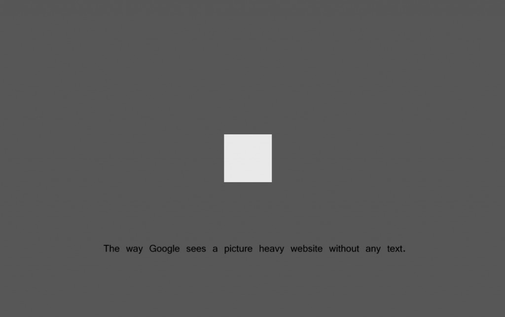 How Google and search engines see images on a website
