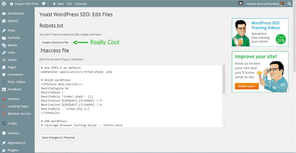 Create and Edit Robots text file