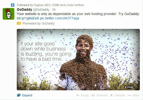 GoDaddy uses BlueHost Outage to promote services