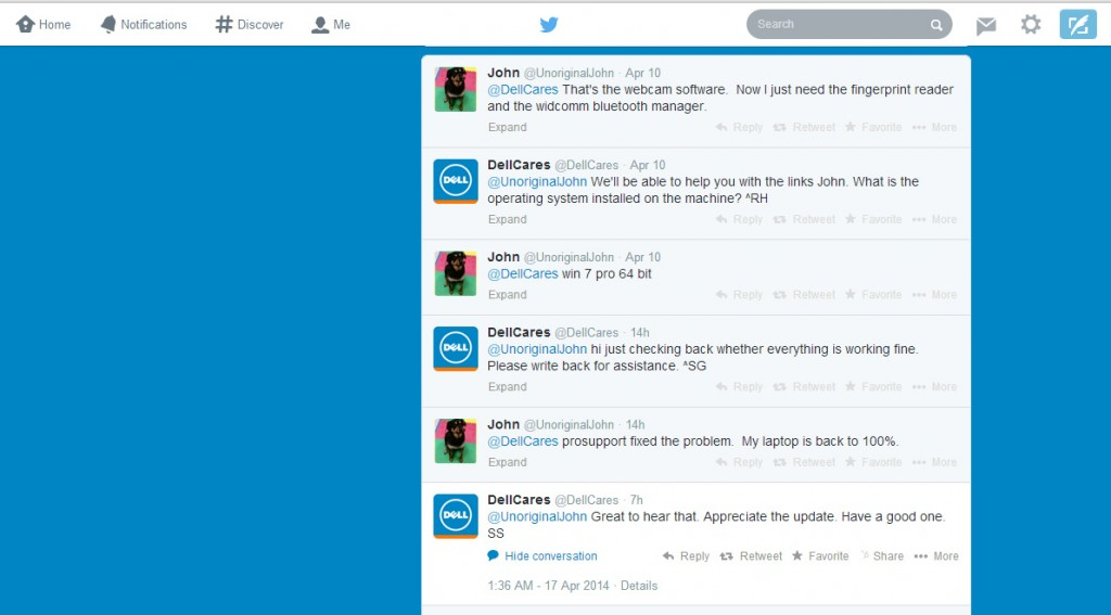 DellCares Twitter Conversation