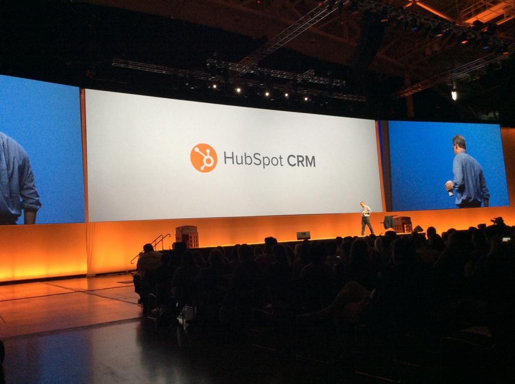 Brian Halligan announcing HubSpot CRM