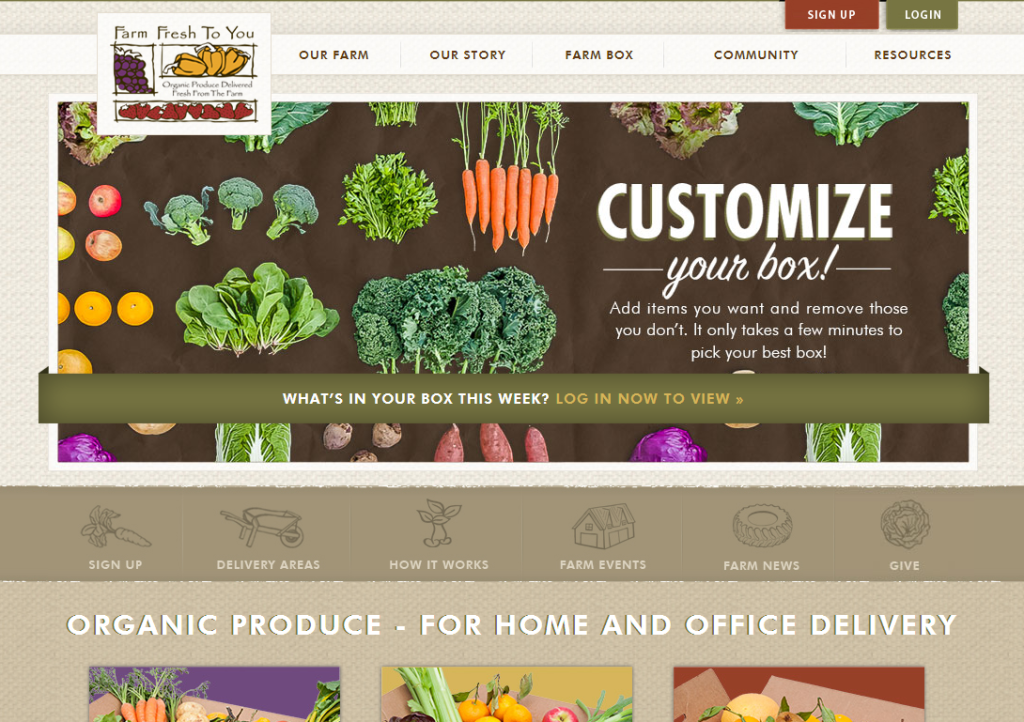Farm Fresh Home Page