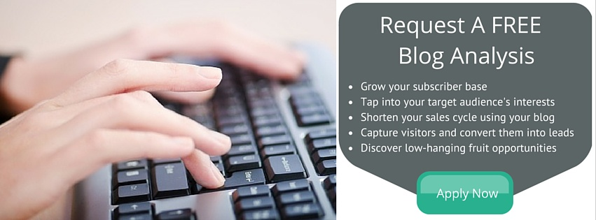 Request A FREE  Blog Analysis