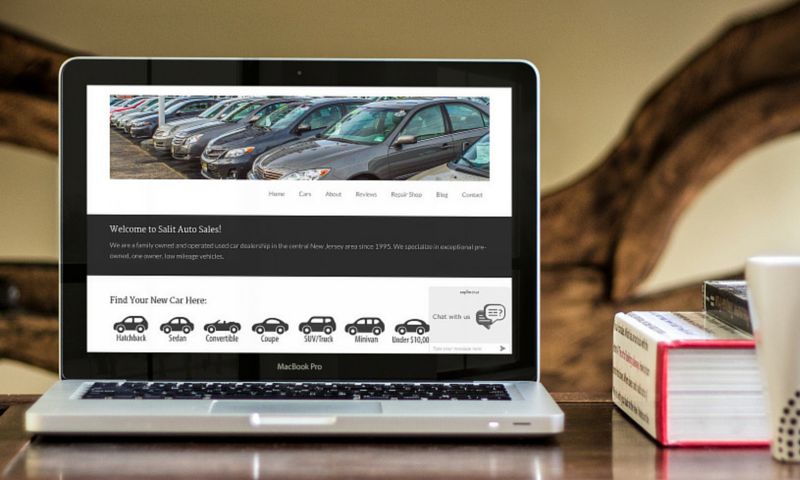 Salit Auto Sales Website After Redesign