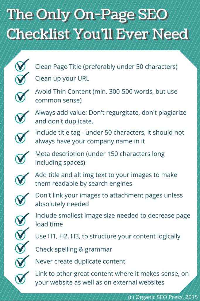 The Only On-Page SEO Checklist You'll Ever Need
