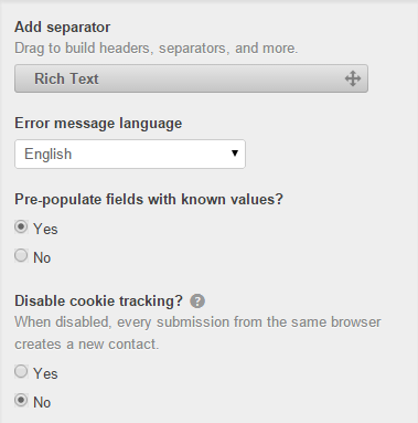 Disable Cookie Tracking Hubspot form