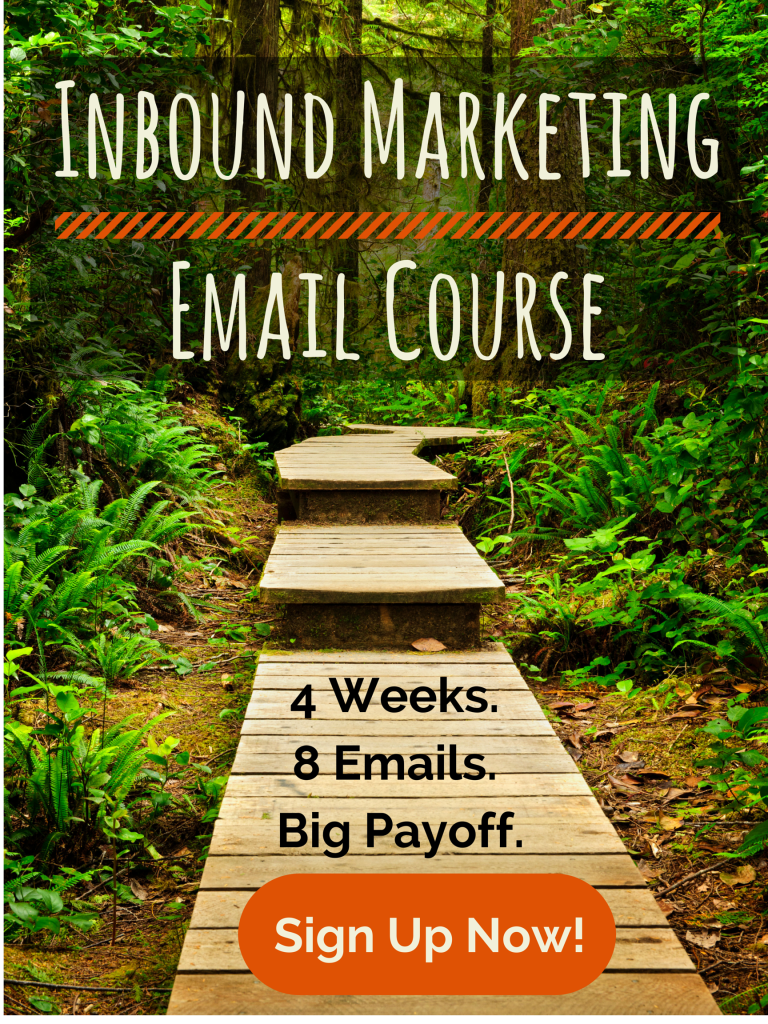 Conference Poster Inbound Marketing Email Course