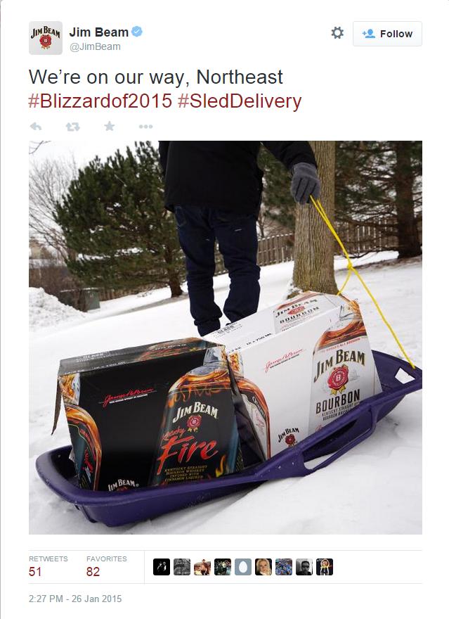 #blizzardof2015 jim beam tweet