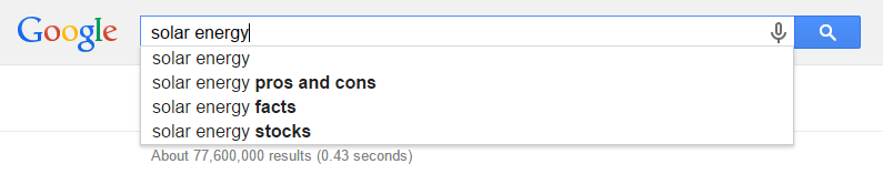 Google Search Solar Energy
