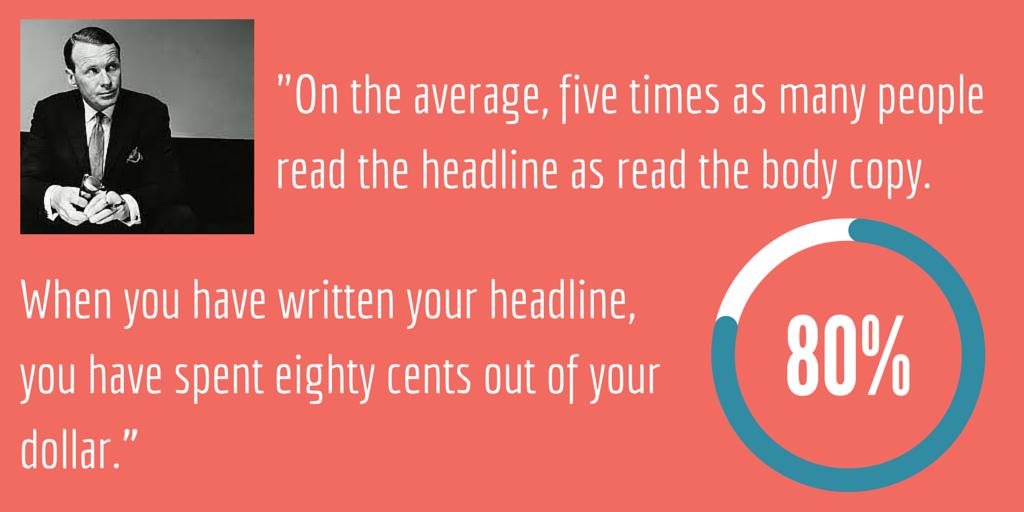 David Oglivy on Headlines Quote