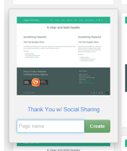 Thank You Page Template in HubSpot