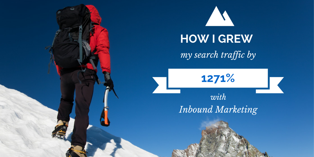 How I Grew My Search Traffic By 1271% With Inbound Marketing Featured