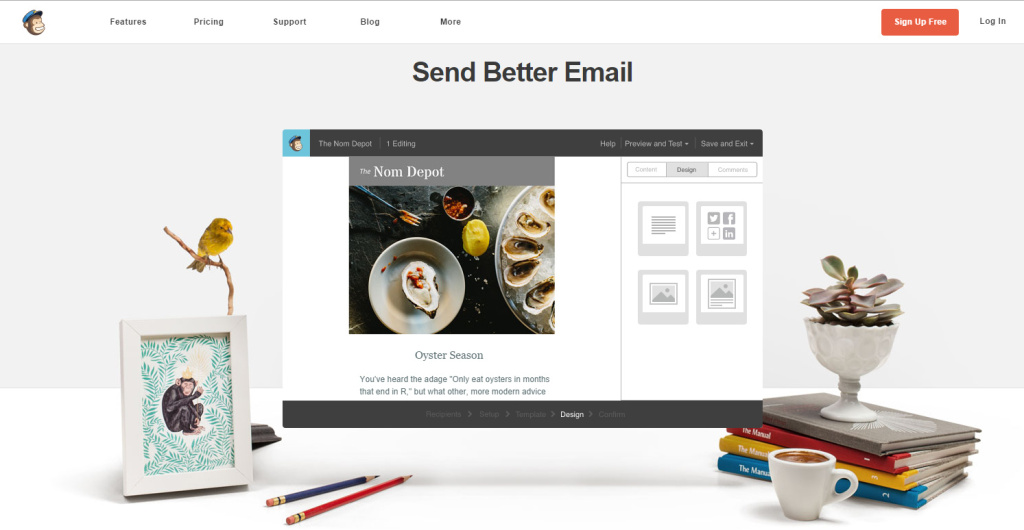 Awesome landing pages Mailchimp