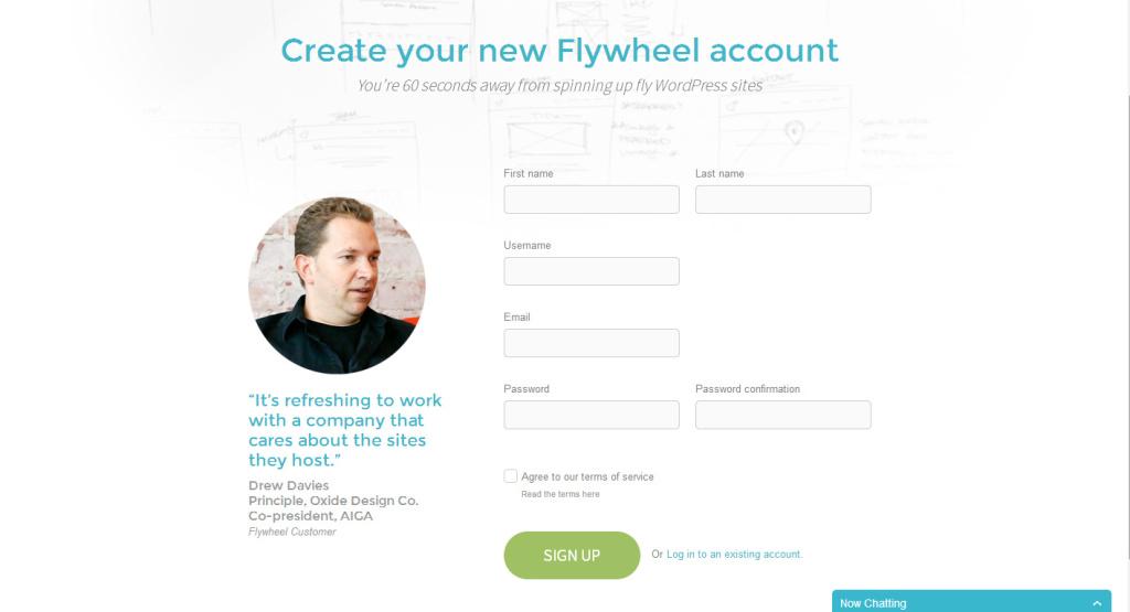 Flywheel Landing Page