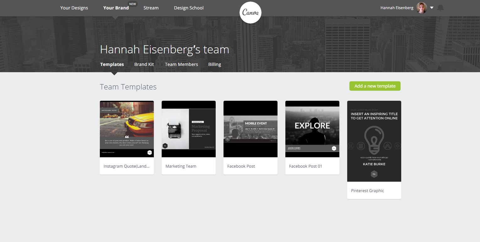 CanvaForWorkTeamTemplates